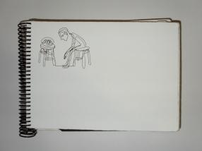 Caderno de 2007. Nanquim sobre papel.